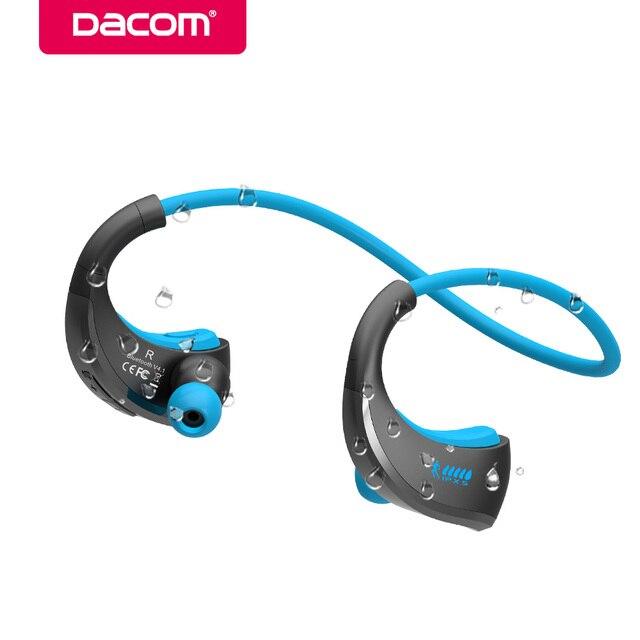 DACOM G06 шейным IPX5 Водонепроницаемый Handsfree стерео Sport гарнитура Беспроводная Bluetooth наушники с микрофоном телефон