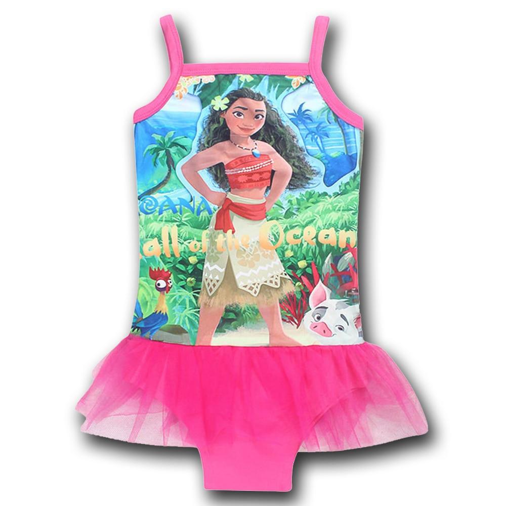 New 2 - 10 Years One Piece Bikini Baby Girls Halter Swimming Tutu Beach Dress for Children Girls Brand Mesh Beachwear Clothing