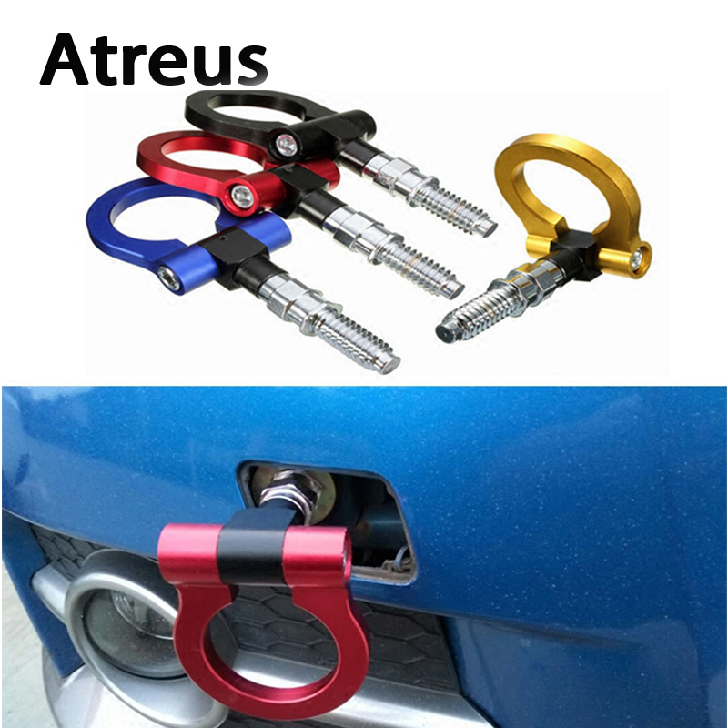 Atreus Car Auto Trailer Ring Hook Vehicle Towing Hanger for Lexus Honda Civic Opel astra h j Mazda 3 6 Kia Rio Ceed Volvo Jaguar купить