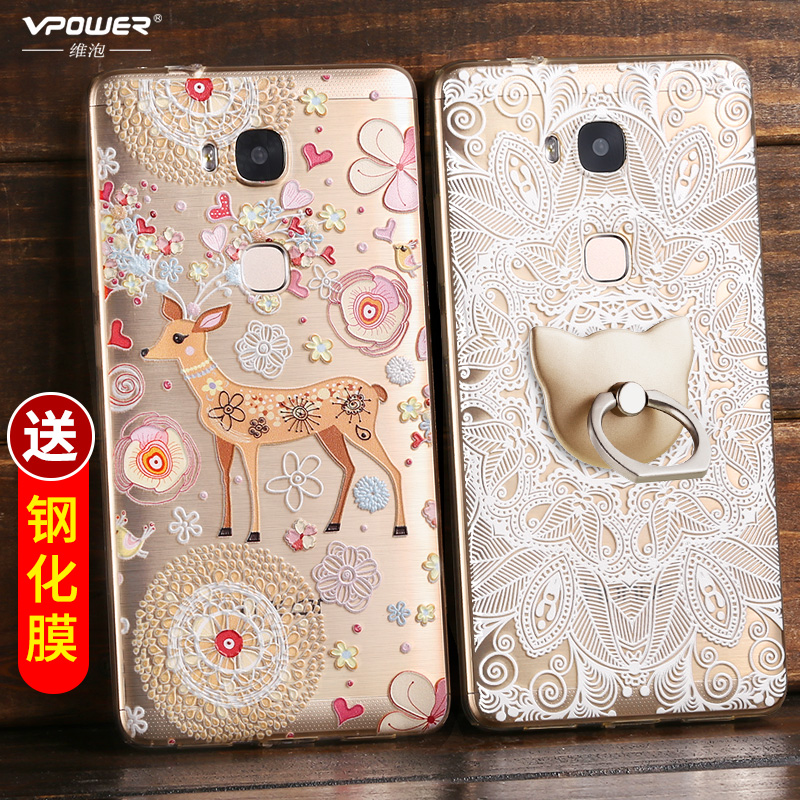 huawei honor x case pc hard transparent CASE Vpower d cartoon Cover
