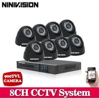 900TVL Surveillance CCTV System 8CH DVR P2P Cloud With 960H 8 Camera Security System IR Cut