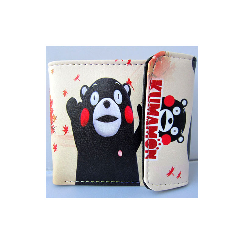 Japanese Mascot Kumamon High Quality PU Short Wallet/Anime Purse with Button (BWA_5) moana maui high quality pu short wallet purse with button