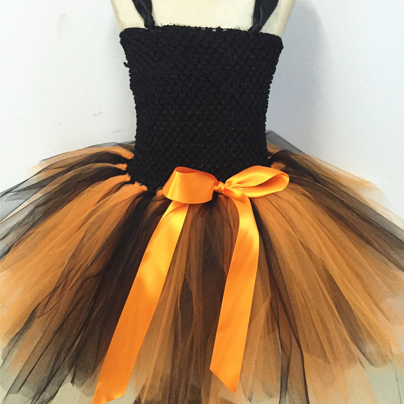 New Girls Pumpkin Halloween Tutu Dress Party Costumes Baby Girl Princess Dress Kids Festival Birthday Dance Performance Dresses new girls ballet costumes sleeveless leotards dance dress ballet tutu gymnastics leotard acrobatics dancewear dress