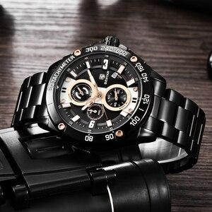 Image 4 - BENYAR メンズ腕時計ゴールド腕時計男性クォーツ時計軍 Wriswatch メンズトップブランドの高級クロノグラフ時計レロジオ Masculino