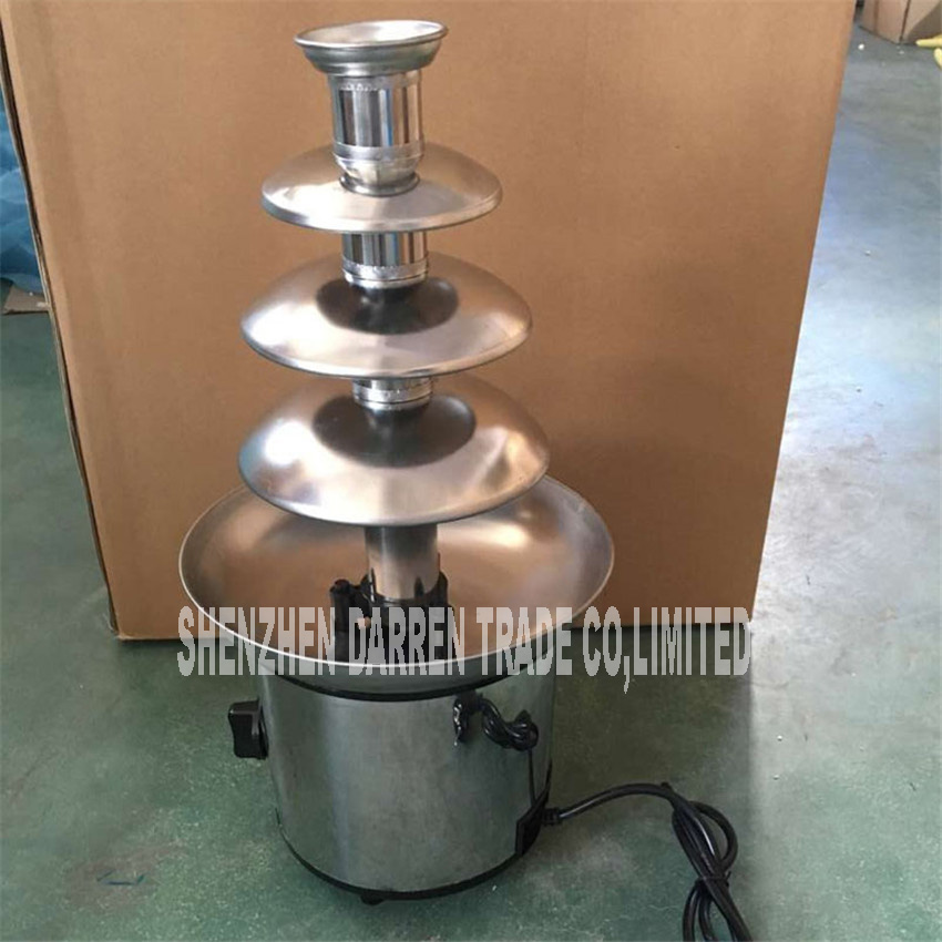 BD-019 quatre couches bricolage chocolat mélangeur fontaine cascade ragoût pot pâte machine de fusion automatique tour de fusion 220 V/50 hz 170 W