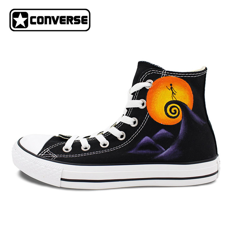 Jack Skellington Converse All Star Man Woman Shoes Nightmare Before Christmas Design Hand Painted Sneakers Men Women Gifts
