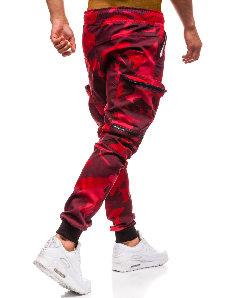 HTB1atHkLYrpK1RjSZTEq6AWAVXat Mens Joggers 2019 New Red Camouflage Multi-Pockets Cargo Pants Men Cotton Harem Pants Hip Hop Trousers Streetwear XXXL