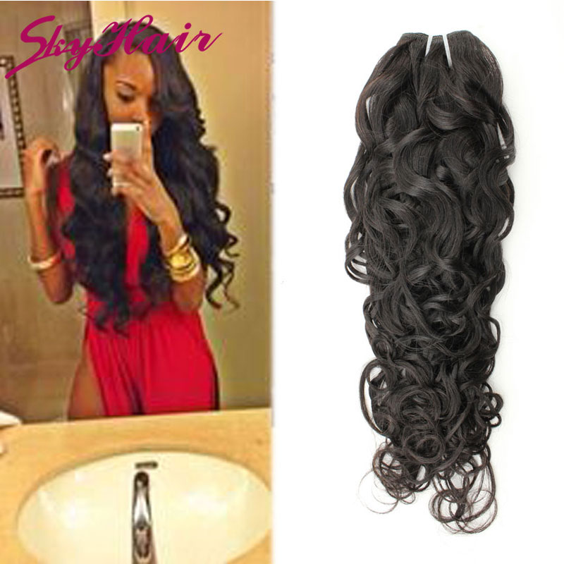 6a Brazilian Virgin Hair Water Wave Cheap Remy Weave Color 1b