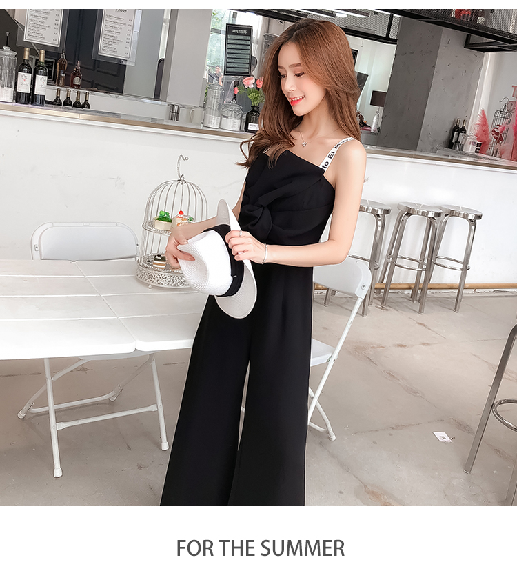 Summer New Sling Bowknot Rompers Womens Jumpsuit Fashion Wide Leg Pants Thin Combinaison Femme Elegant Ol Clothes For Women 14