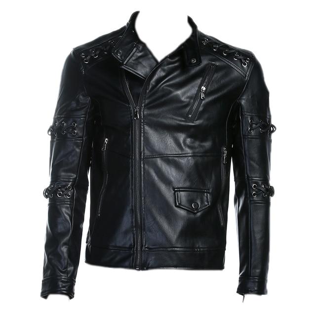 Veste de cuir pour homme moto