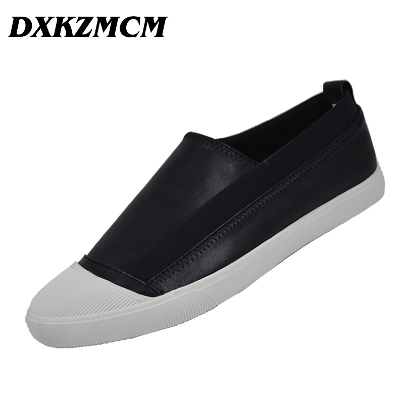 DXKZMCM Brand Cow Leather Men Flat Shoes Moccasins Men Loafers Driving Shoes Fashion Casual Shoes tangnest brand men loafers 2017 men suede leather flats casual moccasins driving shoes for male soft flat shoes 4 colors xmr2448