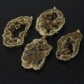 5 unids/lote Grande de Oro de Titanio Druzy Rebanada de la Ágata Granos de Los Colgantes Del Encanto A Granel, Gemas En Bruto Natural Drusy Geode De Piedra Losa Resultados del collar