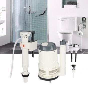 Duża średnica spustowy zawór napełniania WC cysterna zbiornik wody montaż wyposażenie łazienki części zamienne WC WC akcesoria do spłukiwania tanie i dobre opinie VGEBY Ręcznie naciskając typu Flush zaworów Sterowanie ręczne Stołek spłukiwania Brak Toilet Fill Valve WHITE Toilet Fill Valve Part