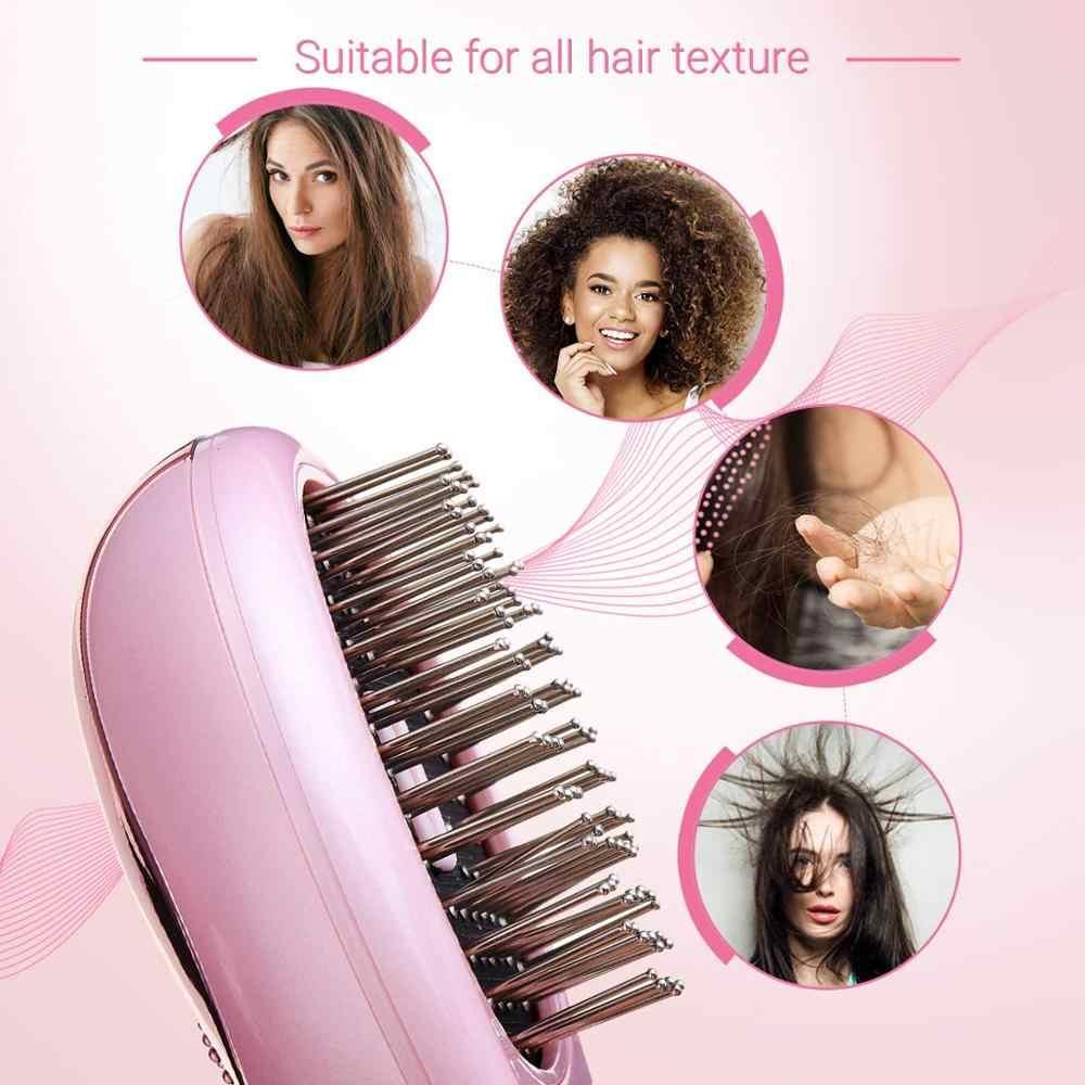 Ionic kamm Tragbare Haar Pinsel Anti-statische Massage Negative Ionen Kamm Mini Haarglätter Kamm Magie Haarbürste Styling Kamm