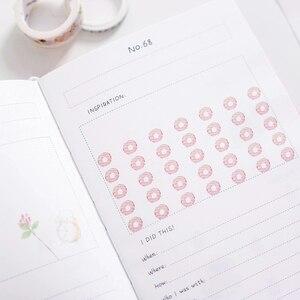 Image 3 - 2019 sezon 2 kore Kawaii 100 kova İstek listesi planı yapılacaklar listesi sevimli çiçek renkli kutulu günlük planlayıcısı okul sabit A5
