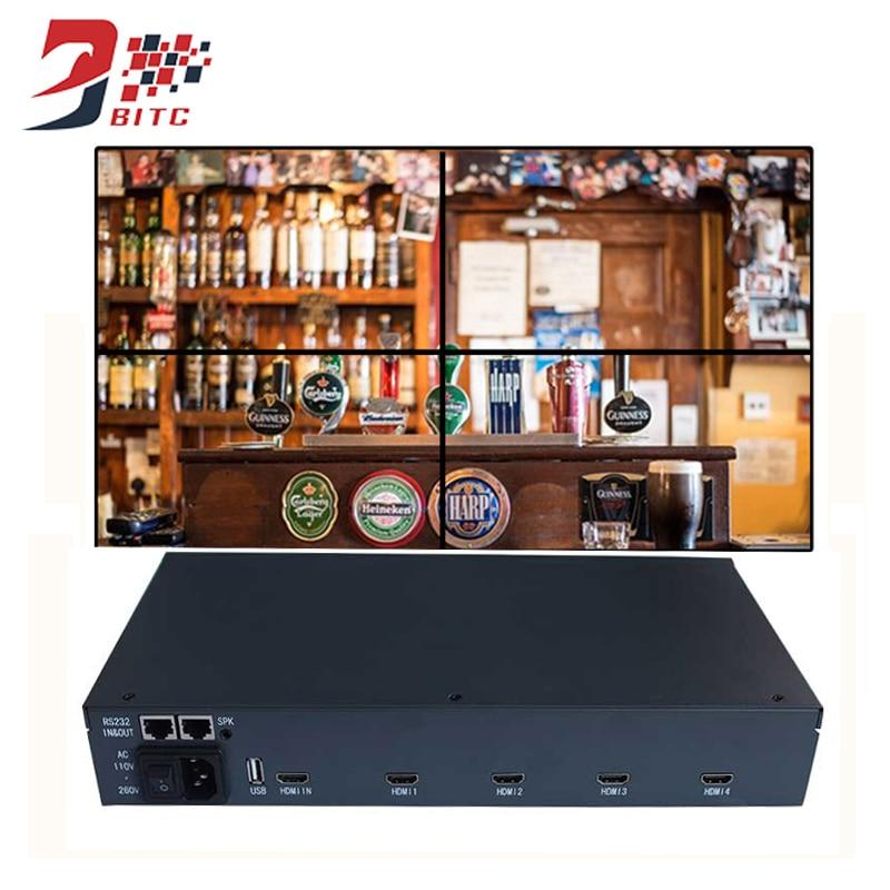 SZBITC Mur Vidéo Processeur 2x2 1080 p 4 Écran Épissage 1x2 2x2 1x3 3x1 4x1 4x1 IR Control Support 180 Degrés Rotation