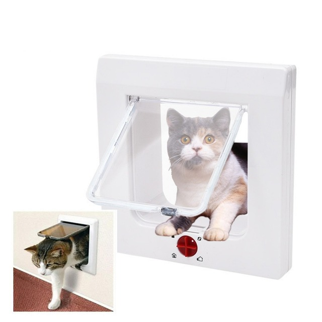 New Arrival Pet Locking Door Controllable Cat Flap Doors Indoor Outdoor For Cats Dogs Coming In Out Lockable Wall Mount