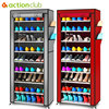 Actionclub Oxford Cloth Minimalist Multi Functional Dustproof Shoe Cabinet Shoes Racks 10 Layer 9 Grid Shoe