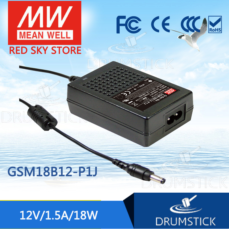 Advantages MEAN WELL GSM18B12-P1J 12V 1.5A meanwell GSM18B 12V 18W AC-DC High Reliability Medical Adaptor advantages mean well gsm120a12 r7b 12v 8 5a meanwell gsm120a 12v 102w ac dc high reliability medical adaptor