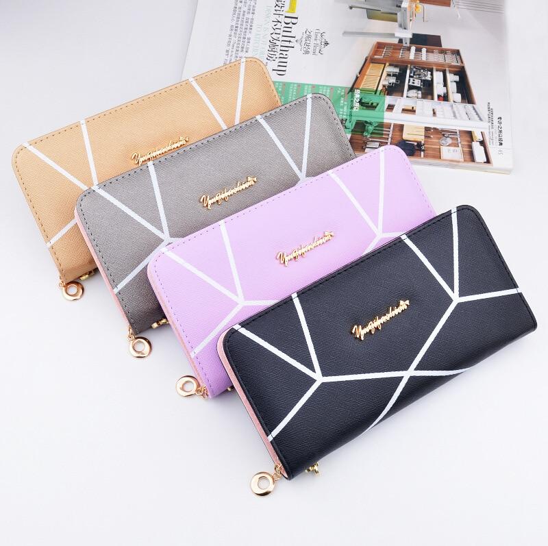 Valink 2017 Famous Brand Geometric Designs Long Wallets Ladies Fashion Women Zipper Wallet Hand Bag Clutches Carteira Feminina 5