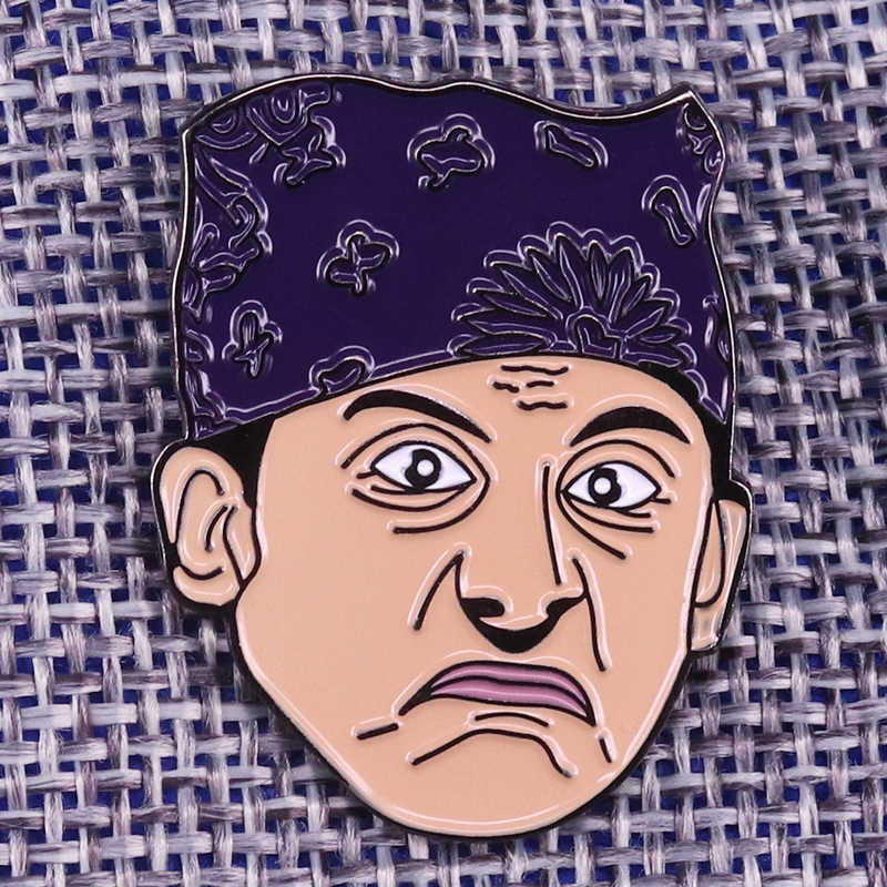 Prison Mike enamel pin Michael Scotts brooch The Office badge celebrity jewelry gift funny men shirts jackets accessory