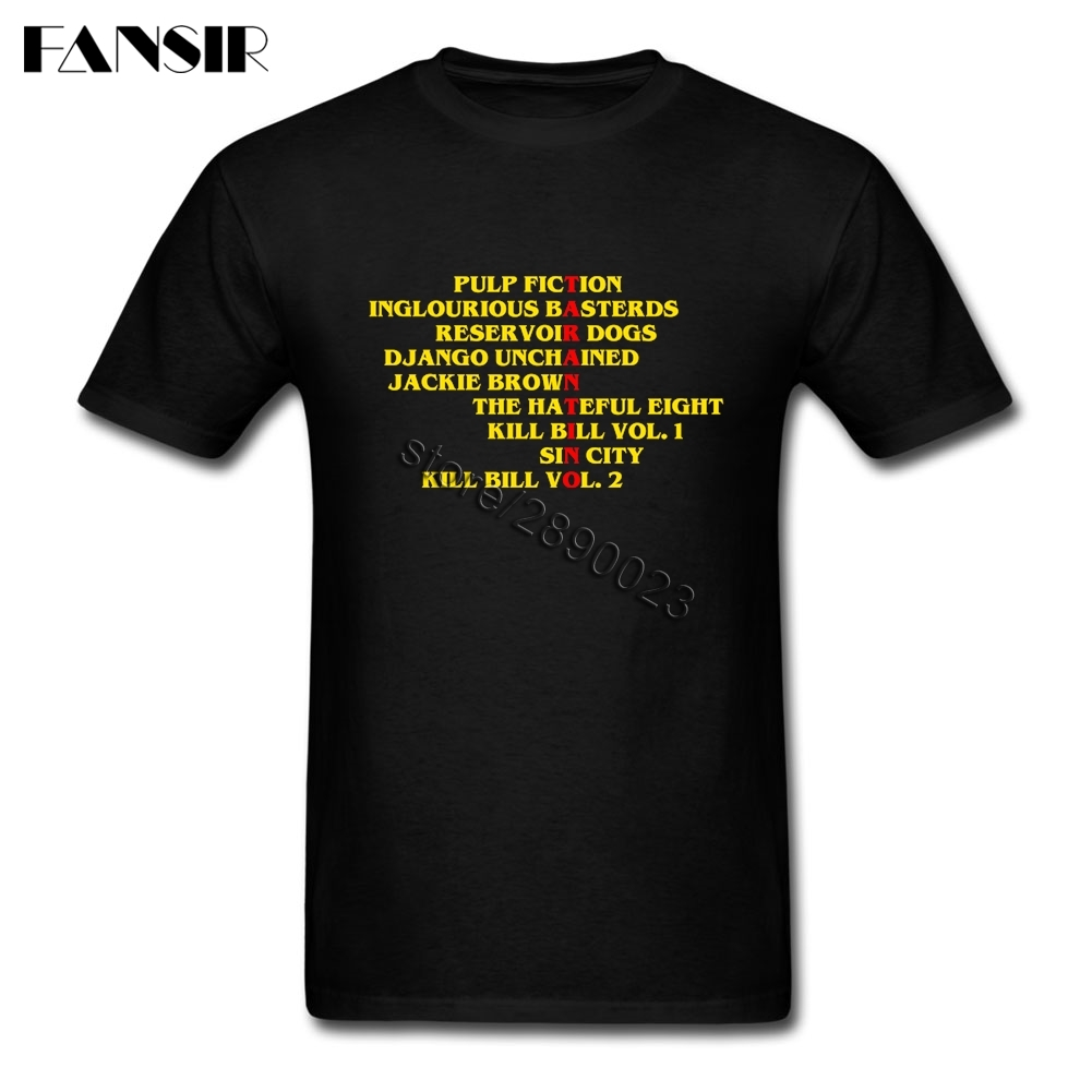 Big Size Quentin Tarantino Films Classical T Shirts Men Male Short Sleeve Crewneck Cotton Men T Shirt Teenage Clothing