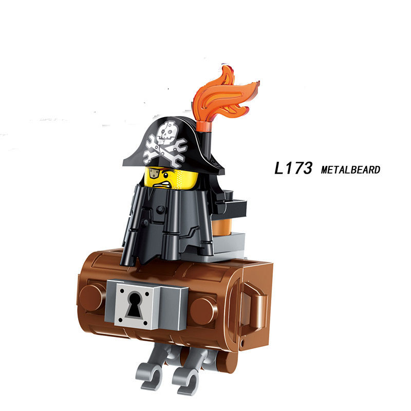 Single Sale LegoINGlys Cartoon Movie METALBEARD TEMPO REX KITTY ZEBE EMMET LUCY Figure Bricks Building Blocks Toys Children Gift