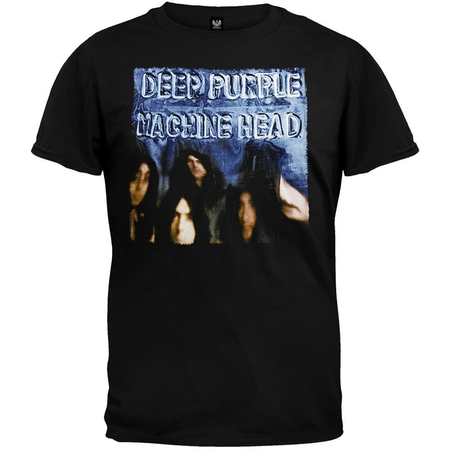 New Deep Purple Phoenix Riser Rock Legend Mens Black T-shirt Size S To 3XL T Shirts Casual Brand Clothing Cotton Top Tee