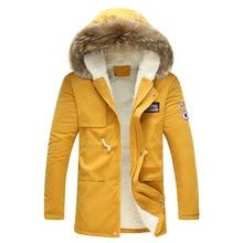 Мужская зимняя куртка 2018 Новая модная ветрозащитная теплая шерстяная подкладка зимняя куртка мужская парка с капюшоном мужская зимняя куртка