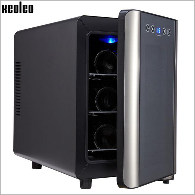 Xeoleo Mini Wine Refrigerators:  6 - bottle Wine cooler, 8-18 degree C, wine refrigerate cabinet for home use