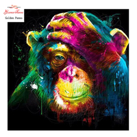 Golden Panno,DIY DMC 11CT 14CT completely Cross stitch Animal monkey kits embroidery needlework sets wall decoration 09