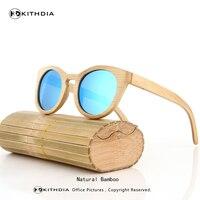 KITHDIA New Bamboo Sunglasses Men Wooden Sunglasses Women Brand Designer Vintage Wood Sun Glasses Oculos De