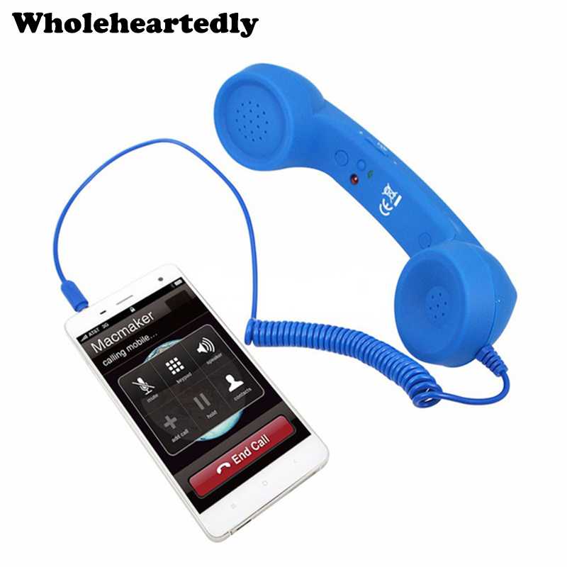3.5mm Audio Jack Volume Controle Retro POP-telefoon Handset Luidspreker Mic Phone Call-ontvanger voor iPhone 4 4S 5 6 Android IOS Telefoon