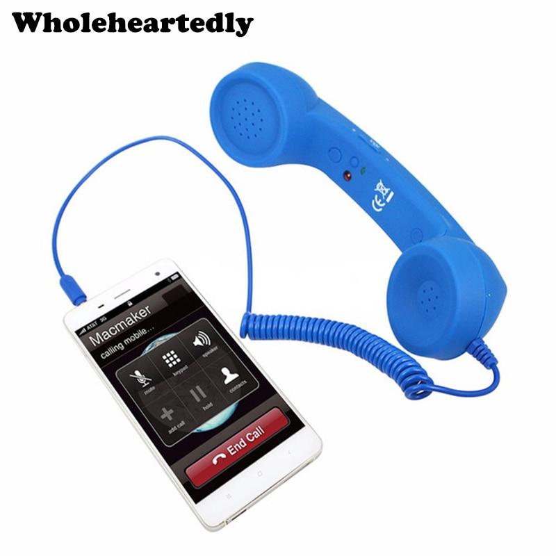 3.5mm Audio Jack Volume Control Retro POP Phone Handset Speaker Mic Phone Call Receiver For IPhone 4 4S 5 6 Android IOS Phone