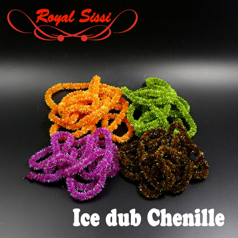 Royal Sissi 2yards pack fly tying ice chenille yarn 10 optional colors Dia 6mm Cactus Chenille steelhead bass fly fishing flies