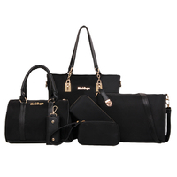 6 Set Bags Including Shoulder Bag Crossbody Bag Handbags Purses Key Case Economic Women Nylon Bag