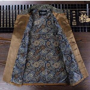 Image 5 - APEC Tang Takım Elbise Marka Yeni Mor Çin Geleneksel erkek Mandarin Yaka Lideri Kostüm Ceketler Coats M L XL XXL XXXL YZT1209