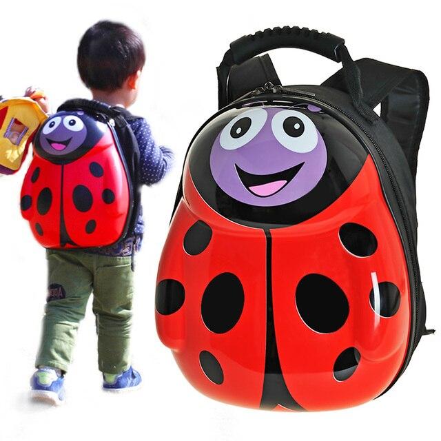 GIFT Children school bags 3D eggshell cartoon animal kids character backpacks PVC Hard toddler backpack for kids boy and girls