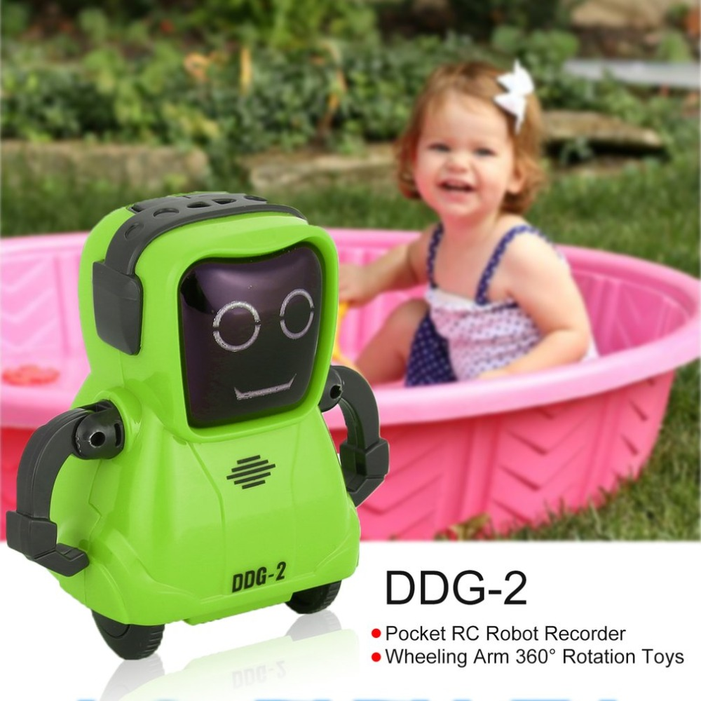 DDG-3 DDG-2  Intelligent Smart Mini Pocket Voice Recording RC Robot Recorder Freely Wheeling 360 Rotation Arm Toys for Kids Gift 4