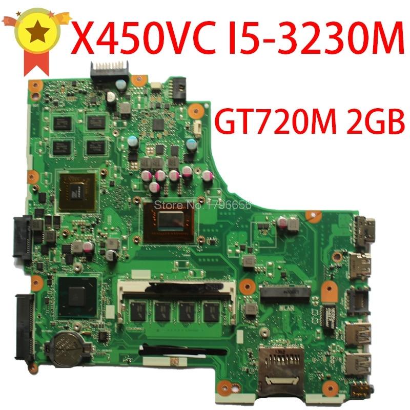 SAMXINNO for asus Laptop Motherboard F450V X450CC X459CC X450VC i5-3230U 8 Memory