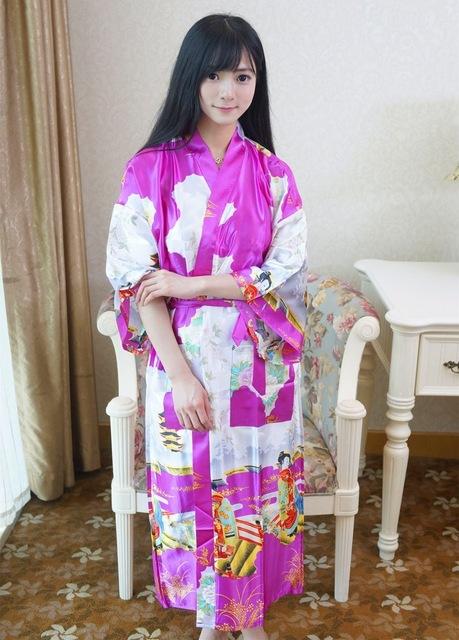 Dama de Honor de Estilo japonés Albornoz Túnicas Ropa de Dormir Atractiva de las mujeres Envío Libre 2016 Verano/Primavera de Manga Larga Homewear Trajes