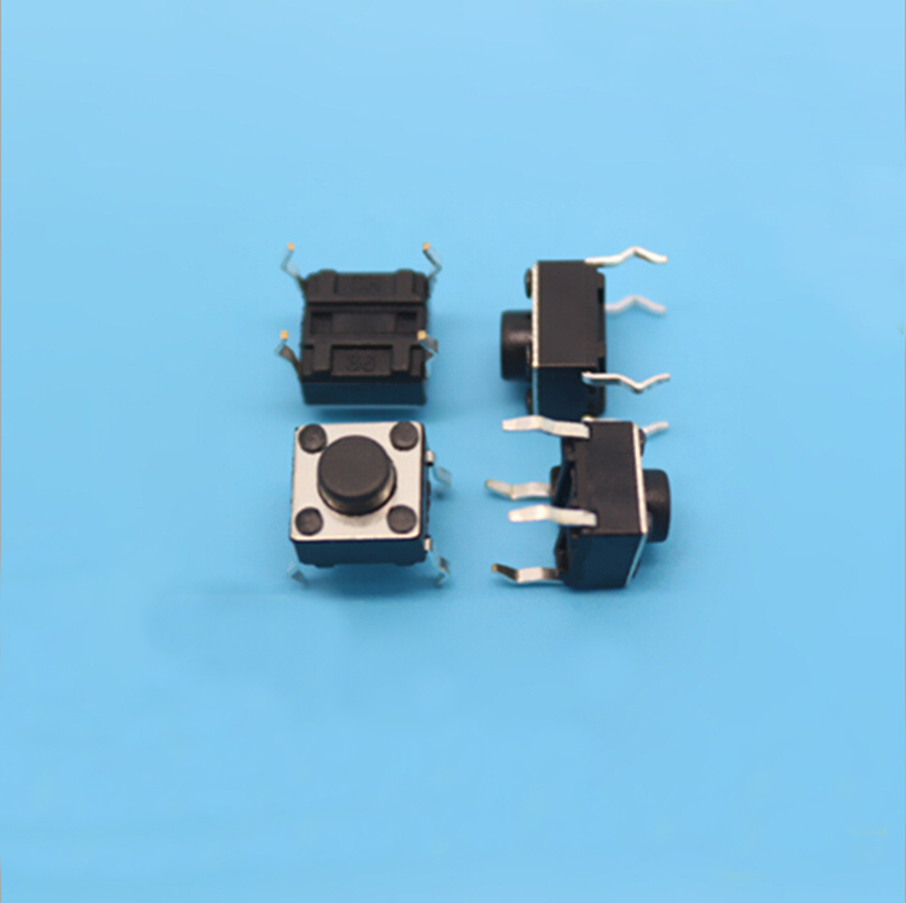 10x Tactile Push Buttons Switch Tact Switch for Arduino 4P DIP 6x6x5mm DC12V