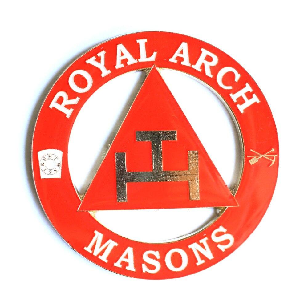 Masonic Freemasonry Triple Tau Royal Arch Masons Auto Emblem Car
