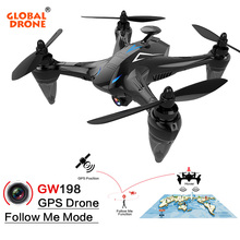 Global Drone RAY GW198 GPS Dron with 5G Wifi FPV 1080P HD Camera Follow Me Brushless RC Quadcopter VS Eachine EX1 Hubsan H501S