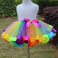2016 newest baby girl skirt kids rainbow tutu skirts hot selling pettiskirt tutu  for custome party wedding