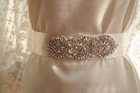 Bridal Rhinestone Applique Pearl Crystal Bridal Sash Applique Wedding Applique Bridal Belt Applique