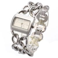 New Double Women Silver Stainless Steel Band Analog Bracelet Watch Women S Luxury Fashion Quartz Wrist