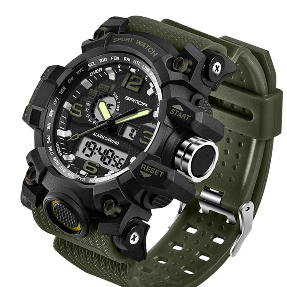 G Style Men's Military Sports Watch LED Digital Watch Waterproof Men's Watch  Colorful Strap