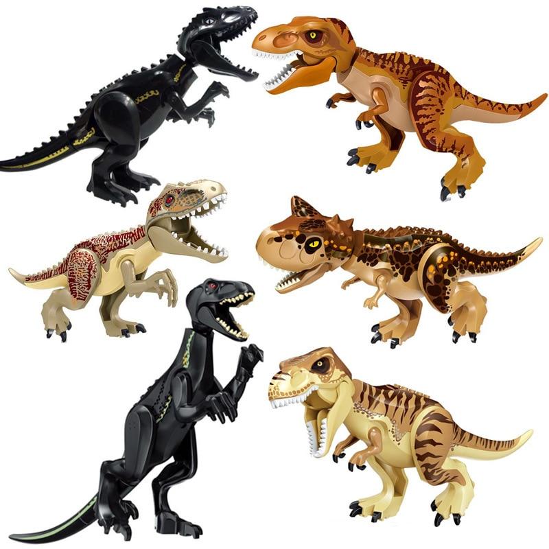 Jurassic World 2 Tyrannosaurus Building Blocks Legoings Dinosaurs Figures Bricks  Rex Indominus Rex I-Rex Assemble Kids Toys