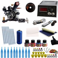 Tattoo Kit Complete Tattoo Kit 1 Professional Rotary Tattoo Machine Gun 4 Inks Needles Power Supply